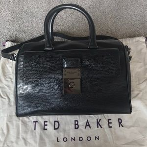 5cac701af6942a Ted Baker Bags - Ted Baker Manning Leather Lock Duffle Bag